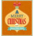 Merry Christmas typographic design vector image vector image