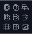 modern professional monogram set bb in red theme