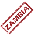 New Zambia rubber stamp vector image vector image