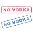 no vodka textile stamps vector image vector image