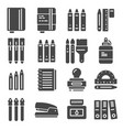 office things gray icons set vector image