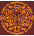 ornamental round lace pattern circle background vector image vector image