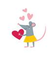 rat female in love vector image vector image