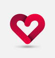 red heart healthy care symbol vector image vector image