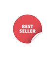 red round sticker best seller vector image vector image