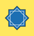 rub el hizb muslim symbol icon for ramadan mubarak vector image vector image
