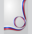 russian flag wavy background vector image vector image