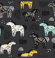 seamless childish pattern with colorful zebras vector image
