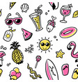 seamless pattern summer collection vector image