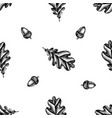 seamless pattern with black and white oak vector image