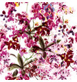 seamless wallpaper orchid flowers spot painded vector image vector image