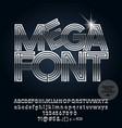 set of elegant chrome alphabet letters vector image