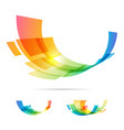 set tech abstraction elements vector image vector image