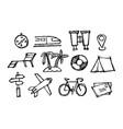 set travel icon vector image