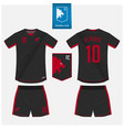 soccer jersey football kit mockup template design vector image vector image