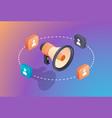 social media promotion digital marketing concept vector image