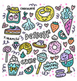 sweet desserts concept vector image vector image