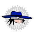 the hero is a boy with a hat a boy in a blue vector image vector image