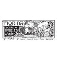 the state banner of florida the everglade state vector image vector image