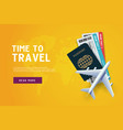 time to travel vacation trip offer concept vector image