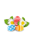 traditional colorful ornate eggs with flowers vector image vector image