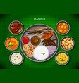 traditional manipuri cuisine and food meal thali vector image vector image