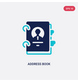 two color address book icon from business concept vector image