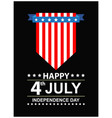 usa independence day black background vector image vector image