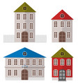 various multi-colored buildings vector image vector image