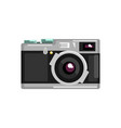 vintage photo slr camera on a vector image vector image