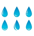 water droplet set vector image vector image