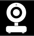 web camera white color icon vector image vector image