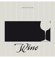 Wine List - Menu vector image vector image