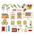 Wine making and wine tasting flat design elements vector image vector image