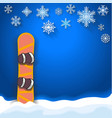 winter sports poster background with snowboard vector image vector image