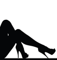 woman legs silhouette vector image vector image