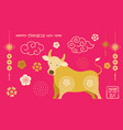 year ox chinese new year vector image