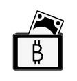 bitcoin wallet symbol vector image