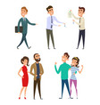 family couples buying real estate vector image