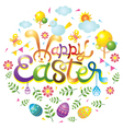 Easter Heading with Icons vector image