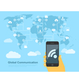 global communications vector image