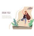 03 urban yoga vector image