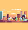 autumn city landscape simple cityscape with vector image