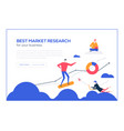 best market research- flat design style colorful vector image