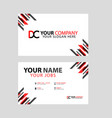 business card template in black and red with a vector image vector image