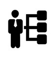 businessman with graphic of hierarchy icon icon vector image