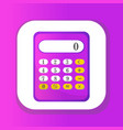 calculator icon flat design calculator isolated vector image vector image