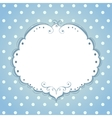 Card with frame and polka dot background