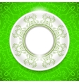 Ceramic Ornamental Plate on Green Background vector image vector image