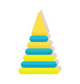 children s pyramid first toy for baby play vector image vector image